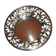 B.S.C Sterling Silver Cut/Etched Floral/Leaf Bowl