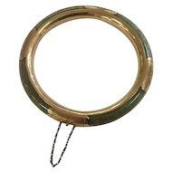Jade 14kt Gold Bangle/Bracelet Marked