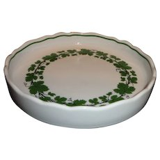 Meissen Full Green Vine/Ivy Pattern Round Low Bowl/Dish