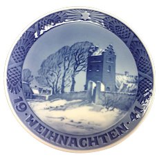 1941 Weinnachten Royal Copenhagen Denmark Christmas Plate