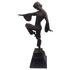 Demetre Chiparus Bronze Statue Dancer/Dancing Harlequin