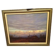 "Texas Artist Hal Warnick Framed Original Oil on Canvas Titled ""Inner Glow"""