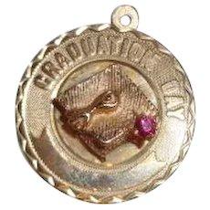 Vintage 14K Gold Graduation Charm 4.1 grams