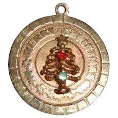 Vintage 14K Gold Merry Christmas Charm 3 grams