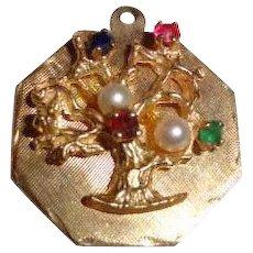 Vintage 14K Gold Tree of Life Charm 4.1 grams