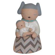 American Indian Stella Teller Small Storyteller Figurine, 1 Child
