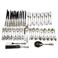 55 Pieces of Sir Christopher Sterling Silver Flatware by Wallace