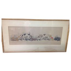 Signed Boris O'Klein (1893-1985) Sex Appeal Lithograph/colored Etching