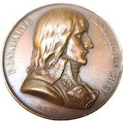 Napoleon Bonaparte Egypt-France 1798  Bronze Medal Battle of the Pyramids by Bovy