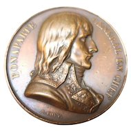 Napoleon Bonaparte Egypt-France 1798  Bronze Medal Battle of the Pyramids by Bovy