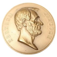 1865 Abraham Lincoln Medal Bronzed Copper Medal Morgan