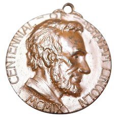 1909 Bronze Medal/Pendant Centennial of Abraham Lincoln