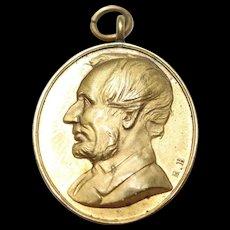Abraham Lincoln Hughes Bovy Medal/Pendant Martyr to Liberty 15th April 1863