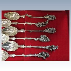 6 Sterling silver spoons with what looks like Australian items marked 925 ZL