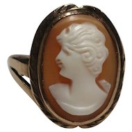 Beautiful Vintage 10k Gold Cameo Ring by Crosby