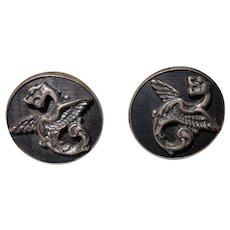 Vintage F&S (Fenwick & Sailors) Sterling Dragon Cuff Links