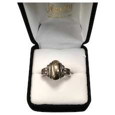 James Avery Sterling Silver & 14K Yellow Gold Ring 12.7g