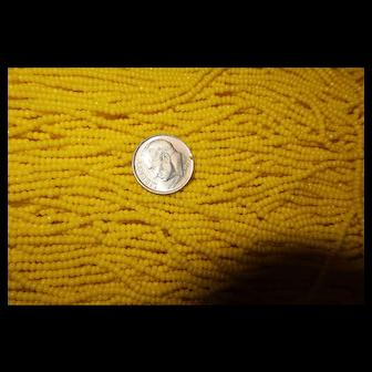 Yellow Czech/Czechoslovakia Glass Seed Beads for Jewelry Making  411 grams