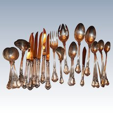 Gorham Chantilly Sterling Silver Flatware 79 Pieces Approx 87.3 troy ounces