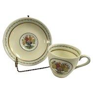 Royal Doulton Wyndham enamel floral Cup & Saucer