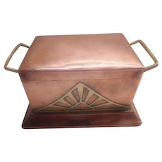 Arts & Crafts - Art Nouveau Copper & Brass Box