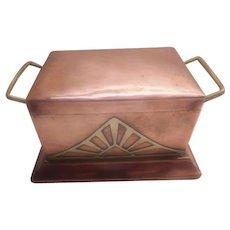 Arts & Crafts - Art Nouveau Copper & Brass Box