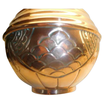 Art Nouvea French  Copper  Jardiniere