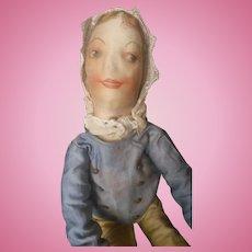 "Vintage 24"" Long Limbed Cloth Boudoir Doll"