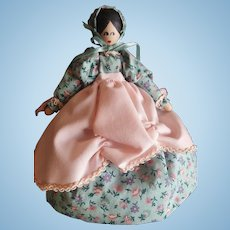 """Vintage Doll Artist Dressed Wood Peg Doll 7"""""""