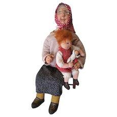 Vintage Dianne Dengel Grandmother with Child & Doll