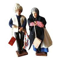 "Vintage Jay of Dublin 7 1/2"" Doll Pair"