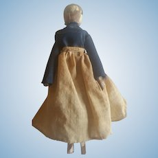 Antique Early 1900's Wood Grodnertal Peg Doll
