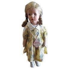 Vintage 1940's Kathe Kruse Cloth Doll All Original