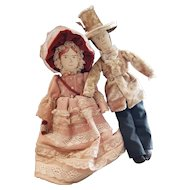 One of A Kind Vlasta Pat Thompson Cloth Doll Pair