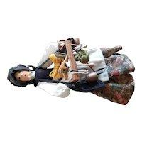 "Vintage Doll Artist Marie Costello Wood Peddler Doll 15 1/2"""
