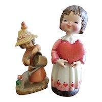 Vintage Anri Italy Carved Wood Figure Lot