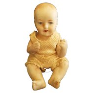 """Vintage 1910 All Bisque Limbach 4"""" Baby Doll"""