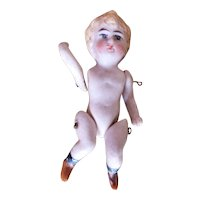 Vintage Tiny All Bisque Germany Jointed Doll
