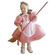 Vintage Italian Cloth Eros Felt Doll