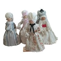 Vintage Lot Clothespin Dolls Cute!