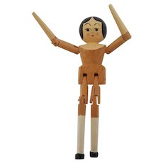 "Vintage Miniature 2"" Eric Horne Wood Wooden Peg Doll"