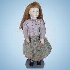 "Vintage Early 20"" Lynne and Michael Roche Bisque and Wood Hannah Doll"