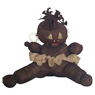 Adorable Vintage Folk Art Black Tribal Doll