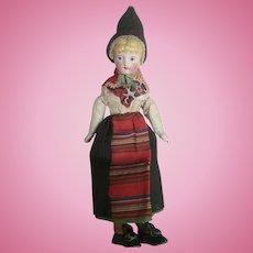 Wonderful Costumed Parian Head Ethnic Doll
