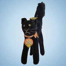 1950's Steiff All Black Cat with All I.D.
