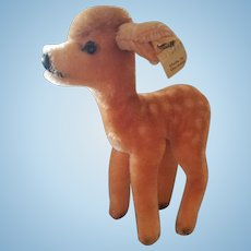 1950's Steiff Deer with Button and Tag