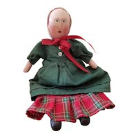 1986 R.F. Haas Wood Wooden Painted Doll