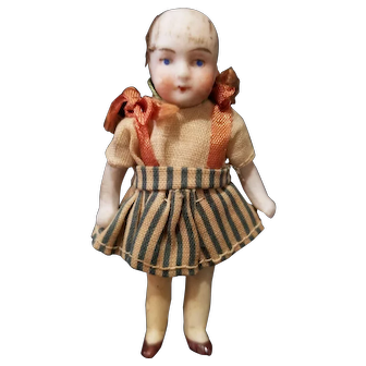 Vintage Germany Miniature All Bisque Doll