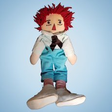 Vintage Raggedy Andy Doll with Shoebutton Eyes