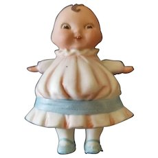 Vintage All Bisque German Happifats Girl Doll